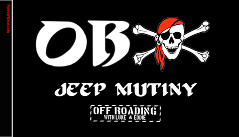 Forever Wave OBX Jeep Mutiny Flag