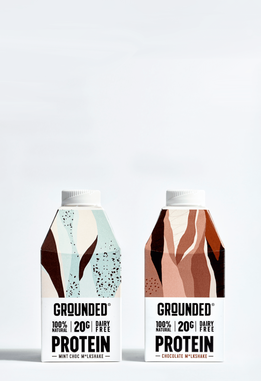 GROUNDED Plant-based protein m*lkshakes