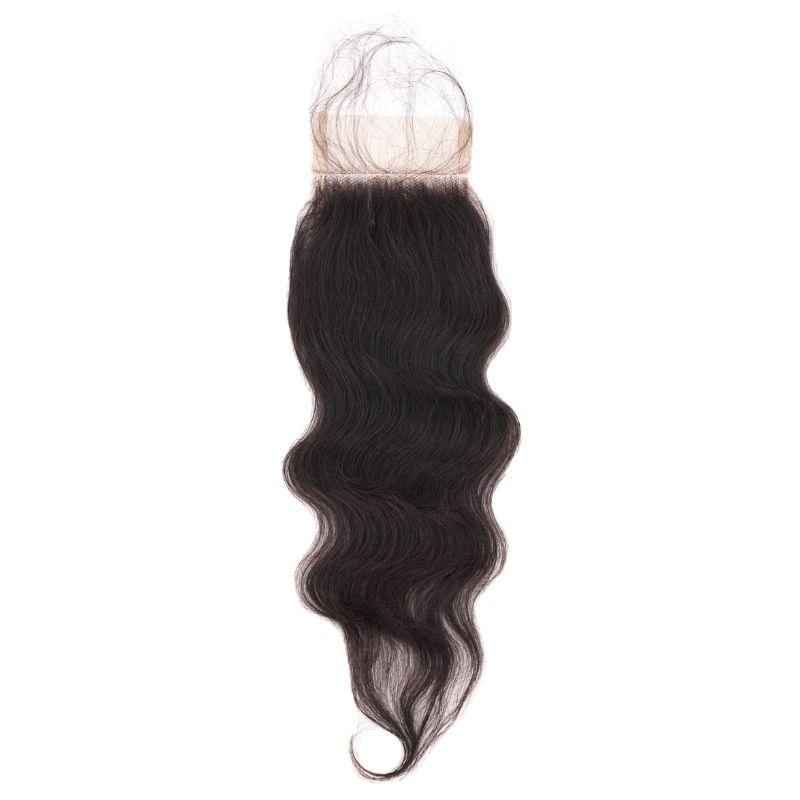 Raw Indian Curly Closure %100 Virgin Human Hair - Hiya Beauty Supply