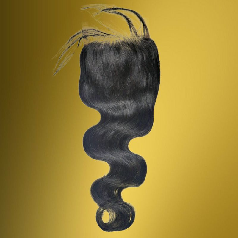Malaysian Body Wave Closure %100 Virgin Human Hair - Hiya Beauty Supply