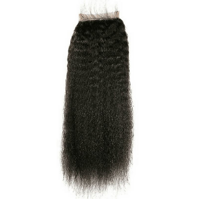Brazilian Kinky Straight Closure %100 Virgin Human Hair - Hiya Beauty Supply