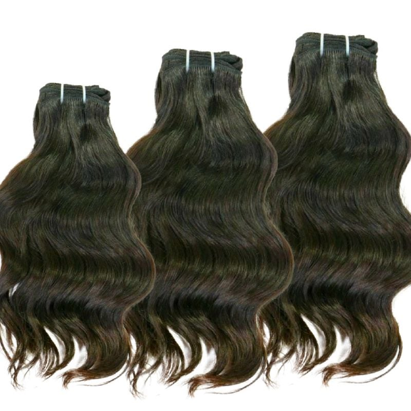 Wavy Indian Hair %100 Virgin Human HairBundle Deal - Hiya Beauty Supply