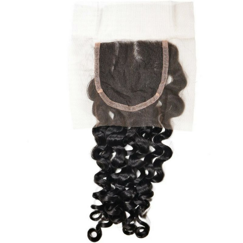Brazilian Spanish Wave Closure %100 Virgin Human Hair - Hiya Beauty Supply