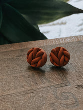 Load image into Gallery viewer, Terracotta Knit Studs
