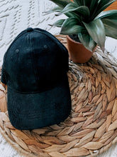 Load image into Gallery viewer, Corduroy Baseball Cap (Black)