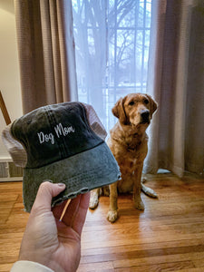 Dog Mom Mesh Baseball Cap (Black)