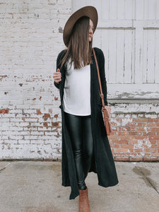 Long Maxi Cardigan With Front Tie Feature