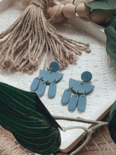 Load image into Gallery viewer, Turquoise Dangle Clay Earrings