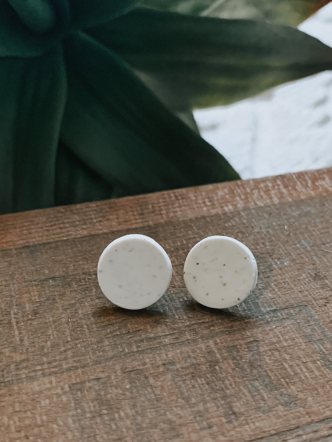 White Speckled Studs