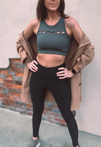 Diamond Cut Out Sports Bra