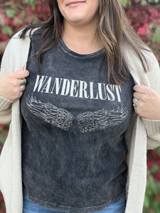 Wanderlust Mineral Wash Graphic Tee