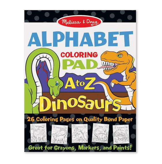 Melissa & Doug Alphabet Coloring Pad A to Z Dinosaurs