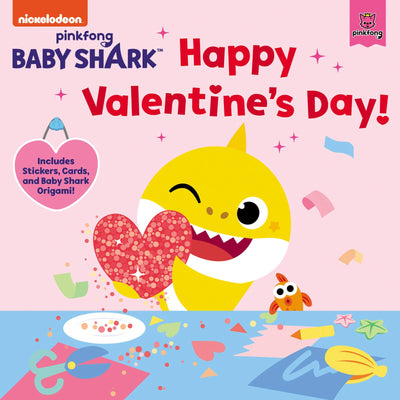 BABY SHARK HAPPY VALENTINE'S DAY ! Includes Stickers, Cards, and Baby Shark Origami!