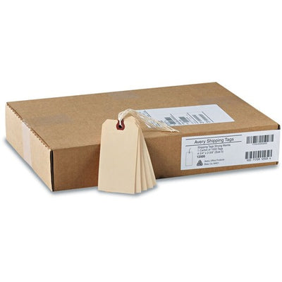 "Shipping Tags 4.75"" Length x 2.37"" Width - Rectangular - String Fastener - Box of 1000"
