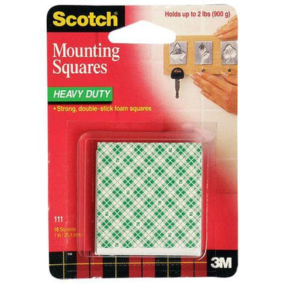 3M-scotch 111 mounting squares 1X1