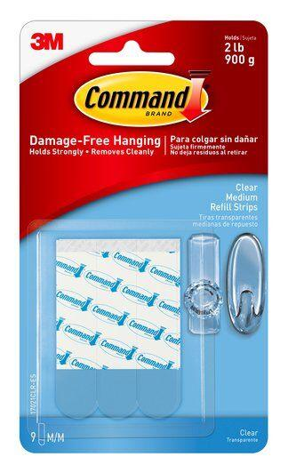 3M-scotch 17021 command medium clear refill strip