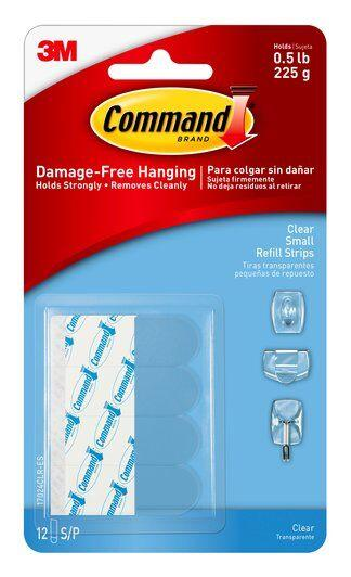 3M-scotch 17024 command clear small refill strip