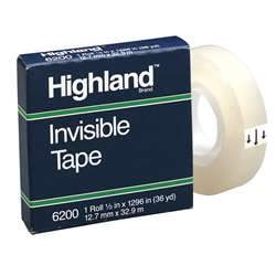 3M-scotch 5910 1/2X36yd highland tape boxed