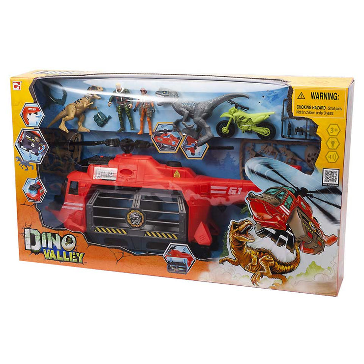 Dino Valley Helicopter Set