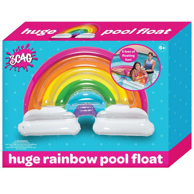 POOL FLOAT RAINBOW & CLOUDS