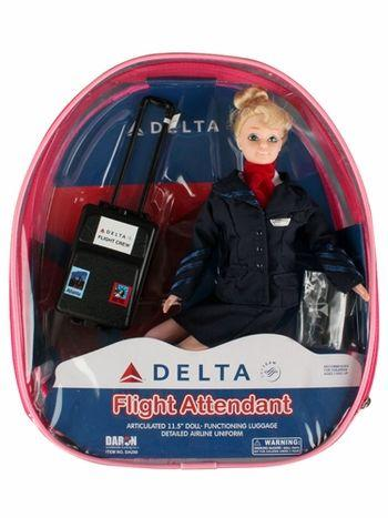 DELTA FLIGHT/ATTENDANT DOLL BACKPACK