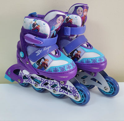 FROZEN SKATES 4 WHEELS IN LINE ADJUSTABLE