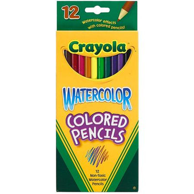 CRAYOLA WATER COLORS PENCILS 12 UNITS