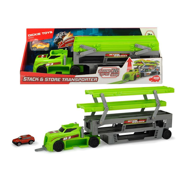 Dickie Toy City Stack & Store Transporter Green