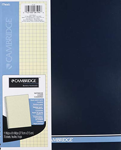 MEAD CAMBRIDGE WIRED NOTEBOOK, 11x 8.5