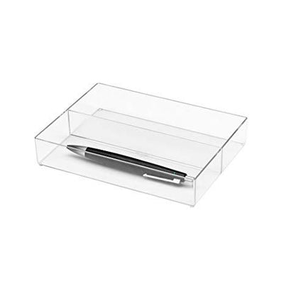Jalema silky touch pen case transparent white