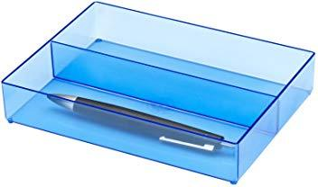 Jalema silky touch pen case transparent blue