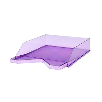 Jalema silky touch letter tray purple