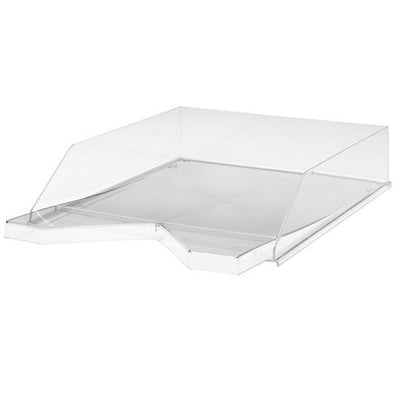 Jalema silky touch letter tray transparent white