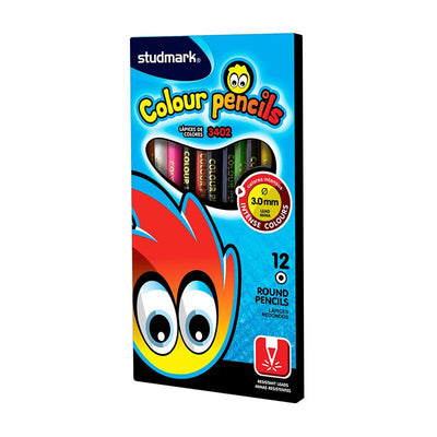 studmark large colour pencils 12 round