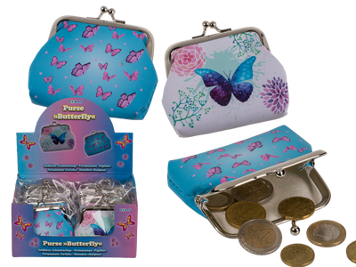 pvc purse butterfly assorted