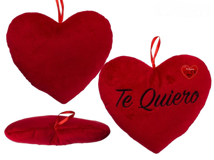 RED PLUSH HEART TE QUIERO 26CM