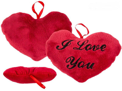 RED PLUSH HEART I LOVE YOU 18C
