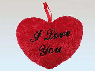 RED PLUSH HEART I LOVE YOU 26CM