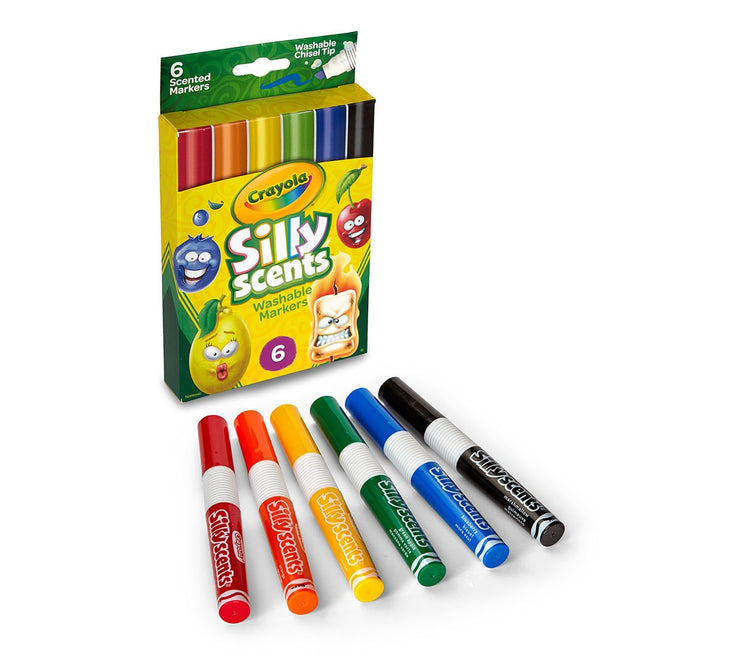 CRAYOLA SILLY SCENTS WASHABLE MARKERS  6 UNITS