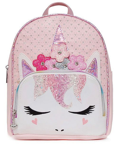 MISS GWEN PERFORATED MINI BACK PACK PINK