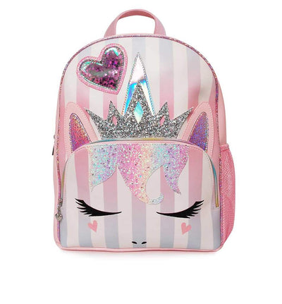 MISS GWEN PARTY STRIPES BACK PACK PINK