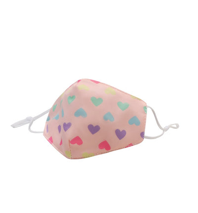 PASTEL HEART PRINTED FACE MASK