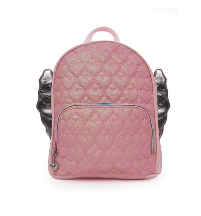 HEART QUILTED WINGED MINI BACKPACK