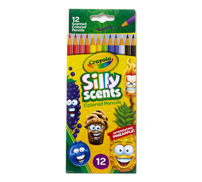 CRAYOLA SILLY SCENTS COLORED PENCILS  12 UNITS