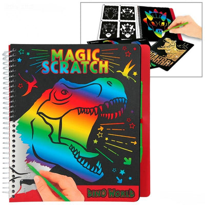 DINO WORLD MAGIC SCRATCH BOEK