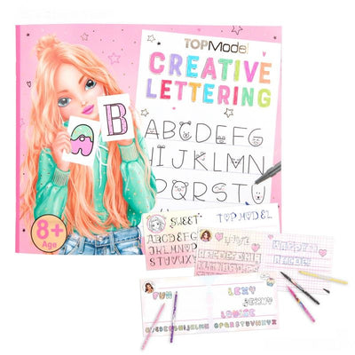TOP MODEL CREATIVE LETTERING KLEURBOEK