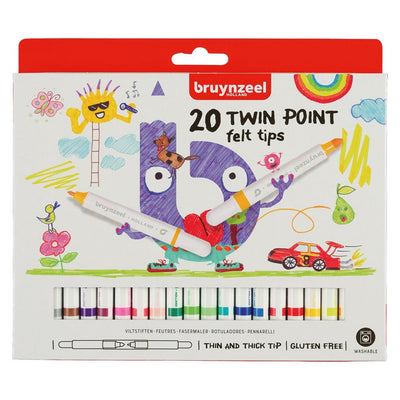 BRUYNZEEL VILTSTIFTEN TWIN POINT 20ST