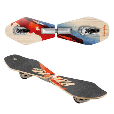 STREET SURFING FIZZ WAVE BOARD RIDER WOOD ABSRACT