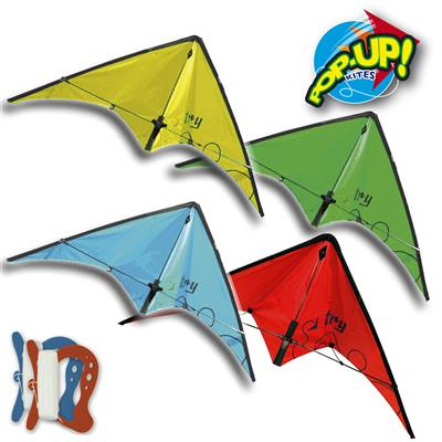 RHOMBUS POP-UP STUNT TRY KITE ASSORTED
