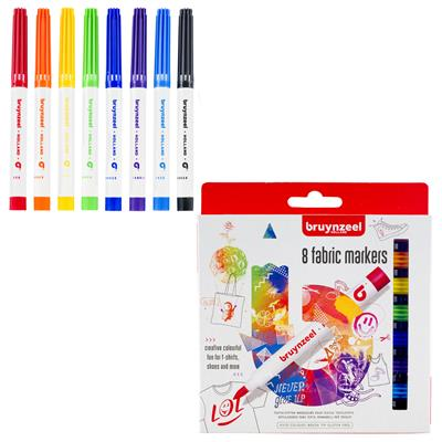 BRUYNZEEL FABRIC MARKERS SET/8